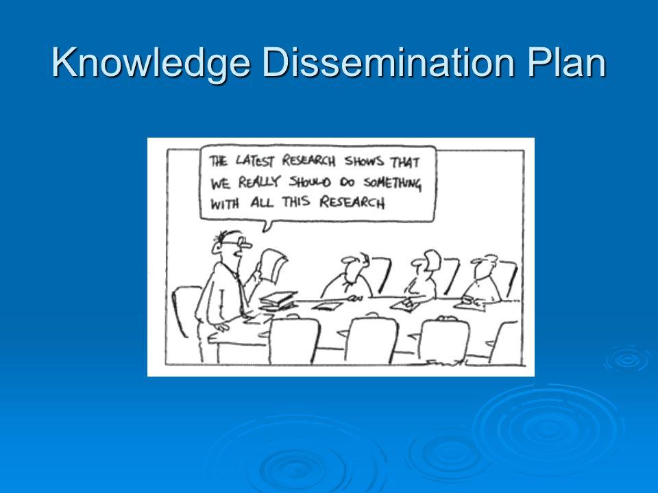 Knowledge Dissemination Plan