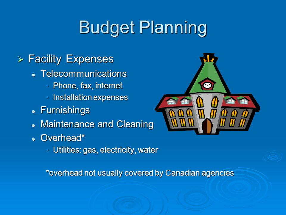 Budget Planning Facility Expenses Telecommunications Furnishings