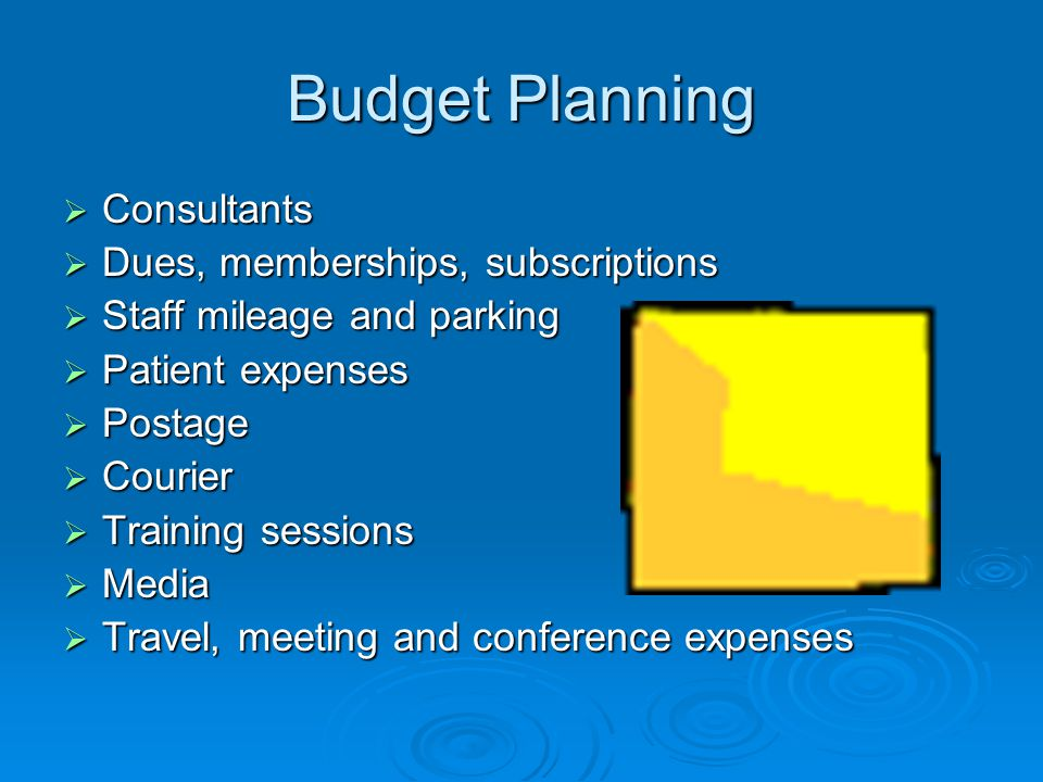 Budget Planning Consultants Dues, memberships, subscriptions