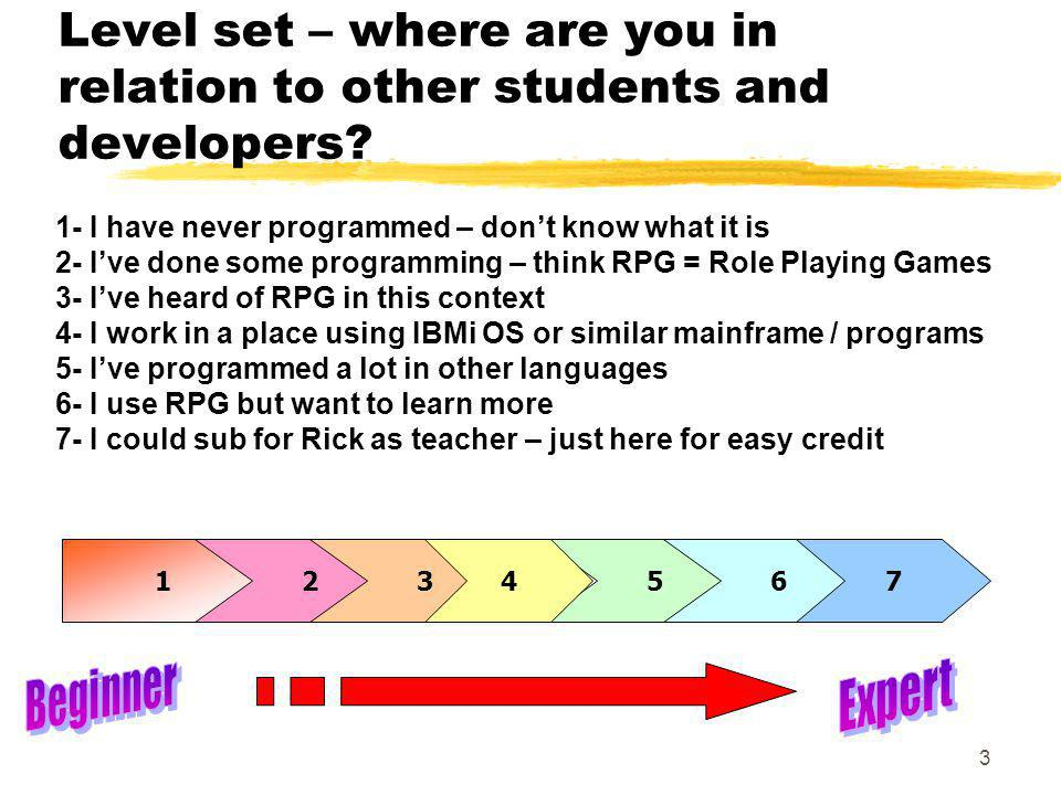 Level set – where are you in relation to other students and developers