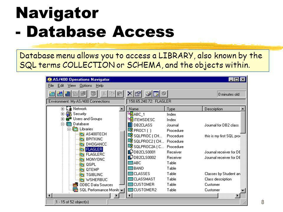 Navigator - Database Access