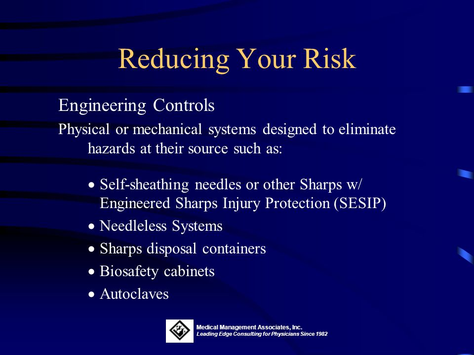 Reducing Your Risk Engineering Controls