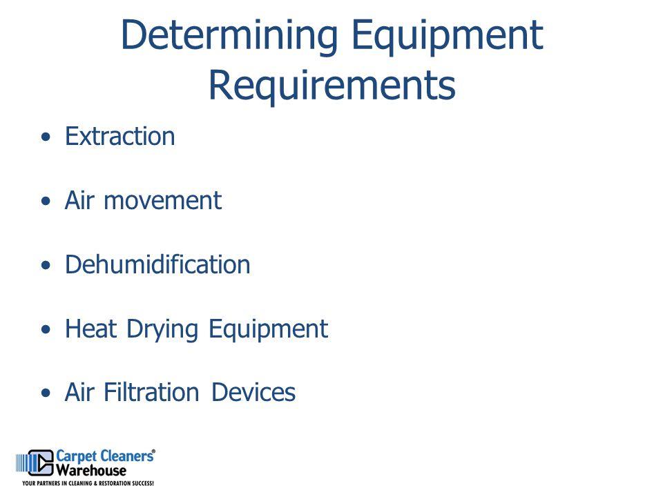 Determining Equipment Requirements
