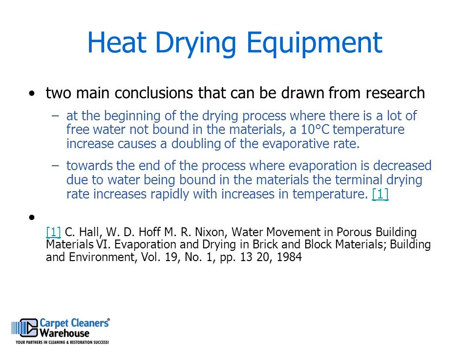 Heat Drying Equipment two main conclusions that can be drawn from research.