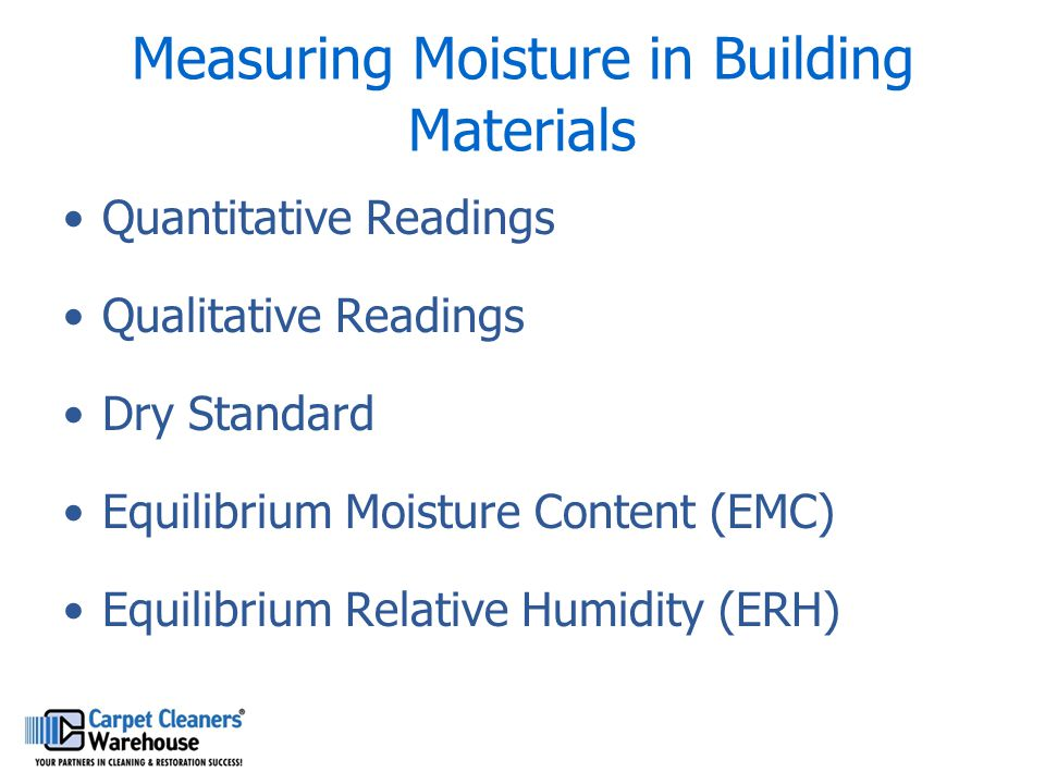 Measuring Moisture in Building Materials