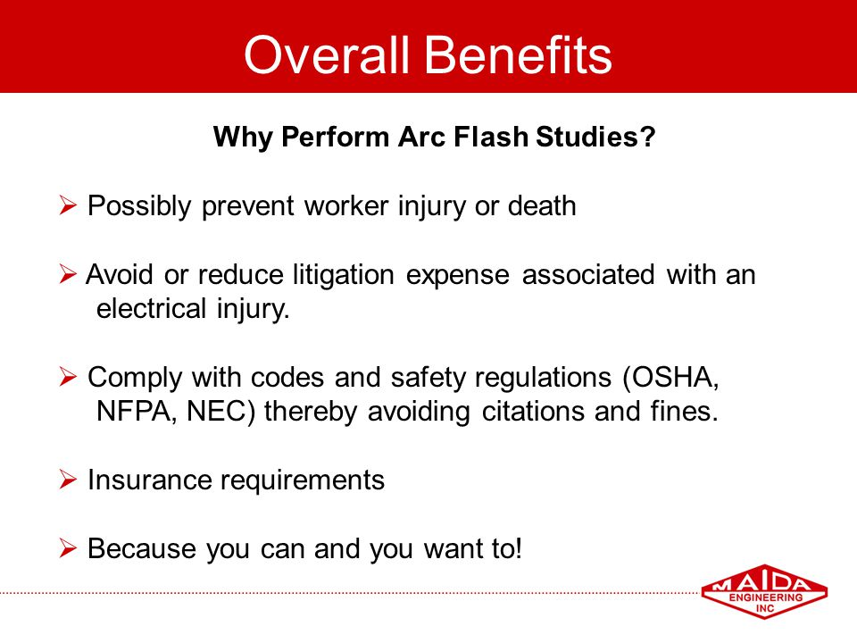 Why Perform Arc Flash Studies