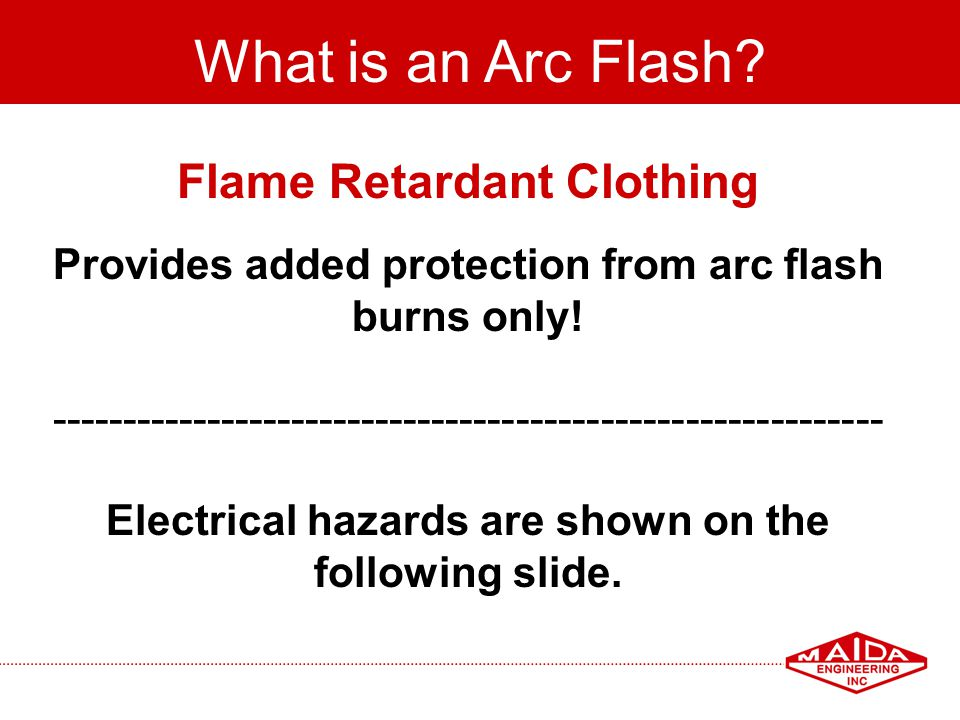 What is an Arc Flash Flame Retardant Clothing