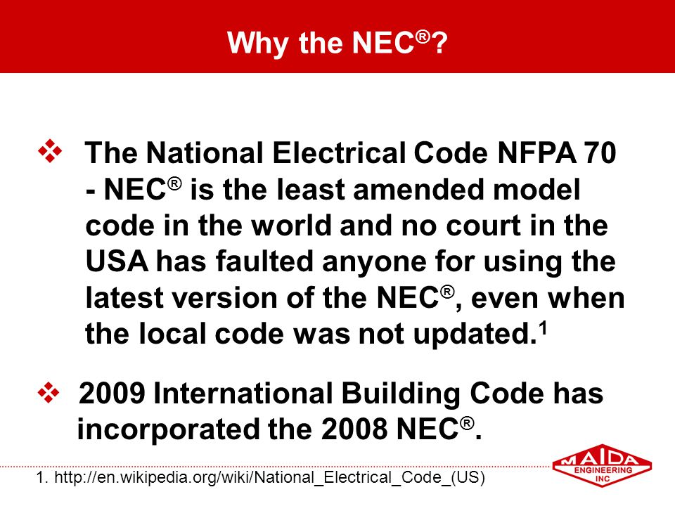 The National Electrical Code NFPA 70