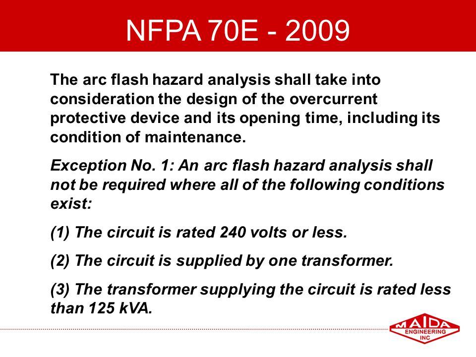 NFPA 70E - 2009