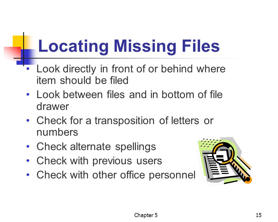 Locating Missing Files