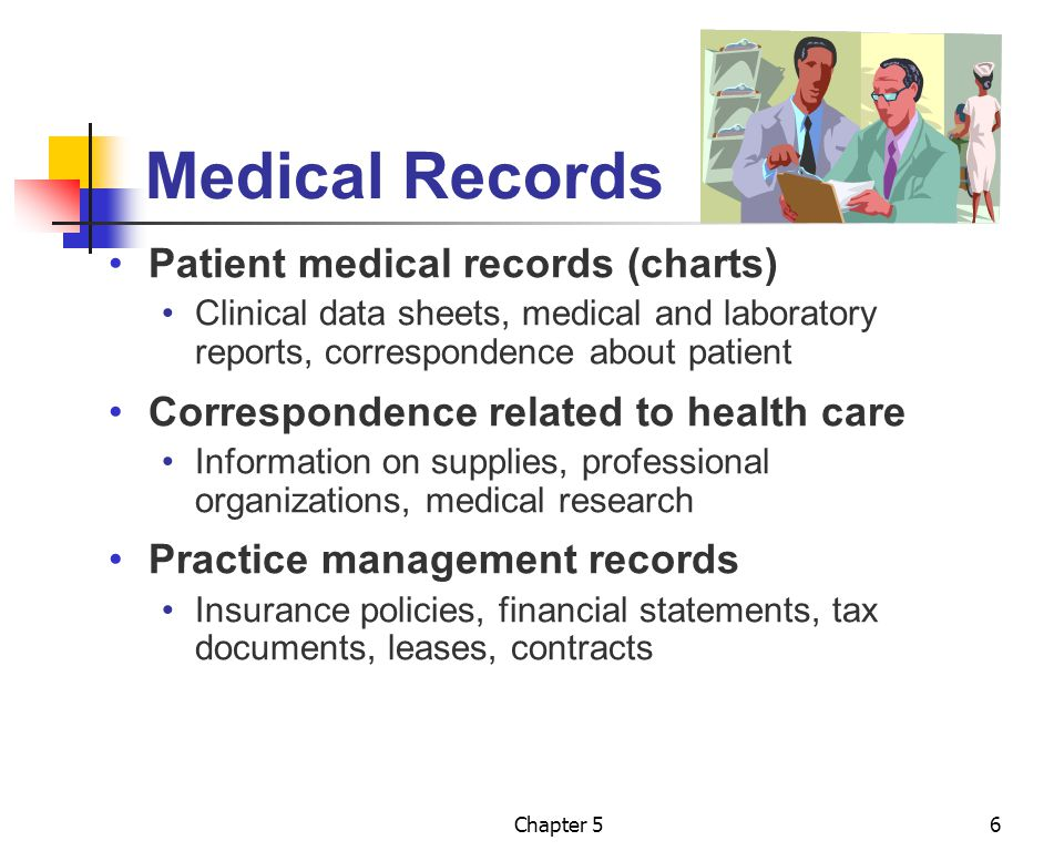 Medical Records Patient medical records (charts)