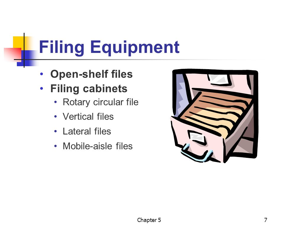 Filing Equipment Open-shelf files Filing cabinets Rotary circular file
