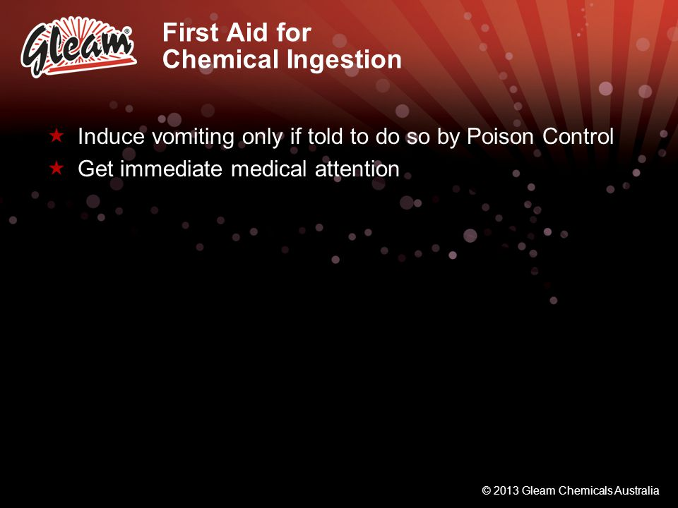 First Aid for Chemical Ingestion
