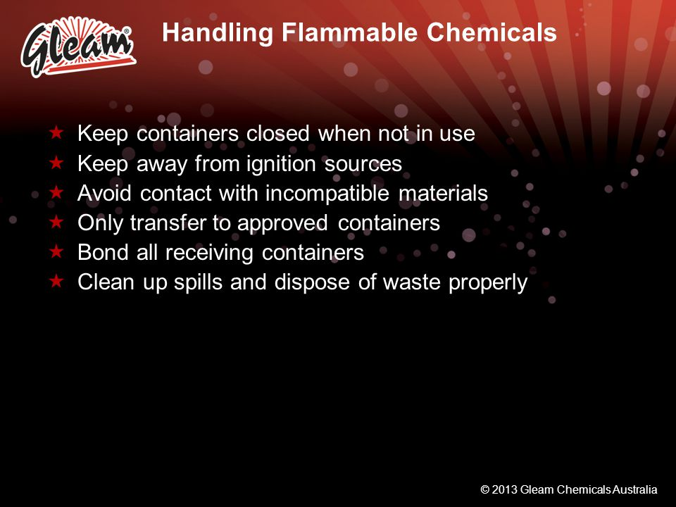 Handling Flammable Chemicals