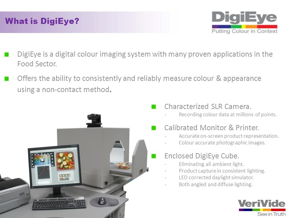 Characterized SLR Camera. Calibrated Monitor & Printer.