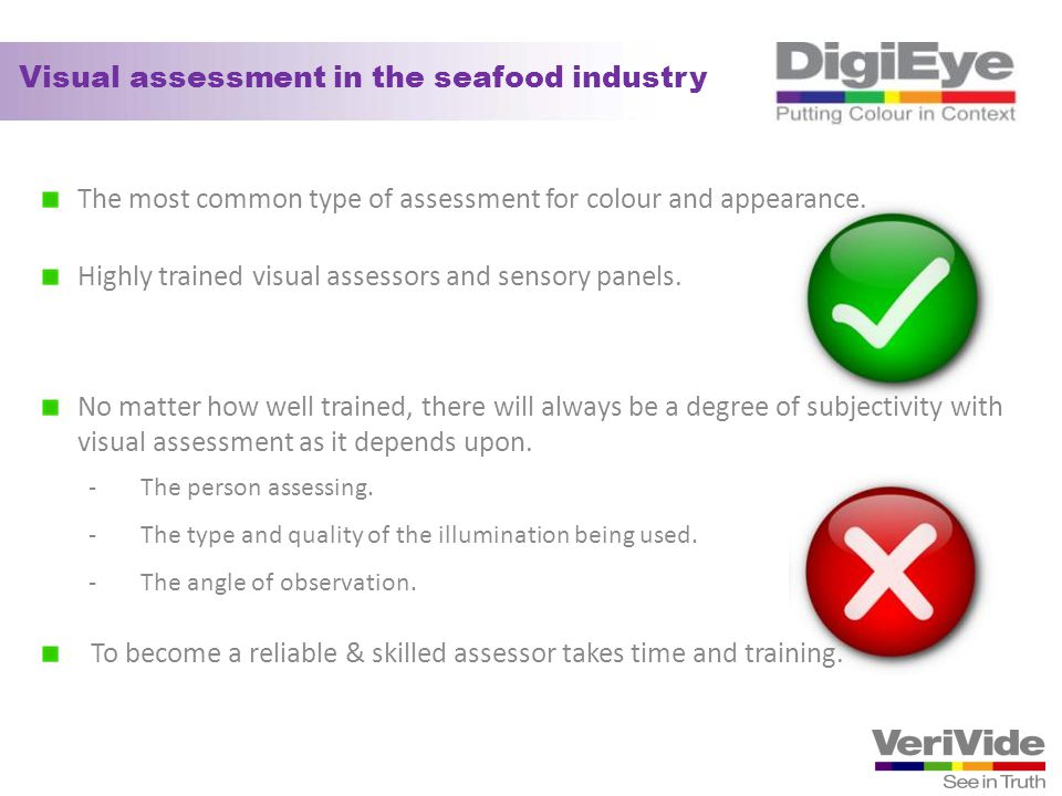 Visual assessment in the seafood industry