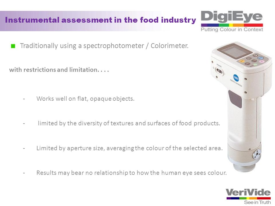 Instrumental assessment in the food industry