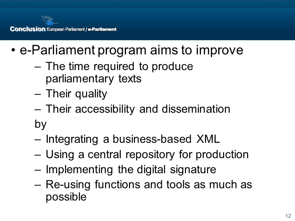 e-Parliament program aims to improve