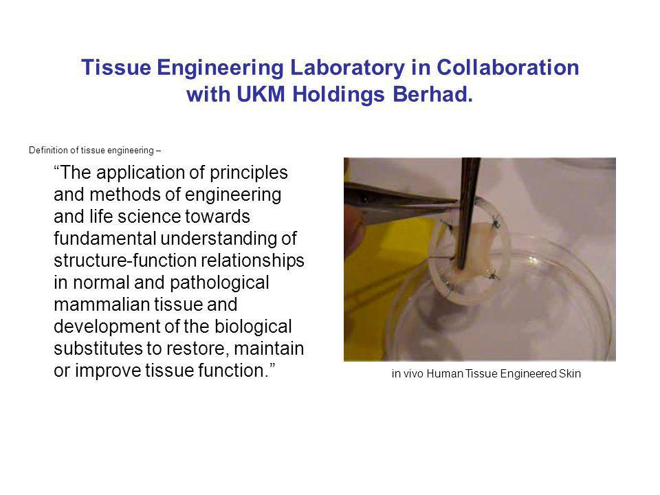 Tissue Engineering Laboratory in Collaboration with UKM Holdings Berhad.