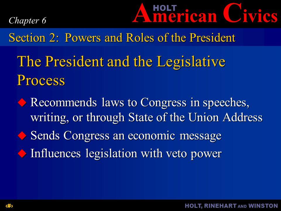 The President and the Legislative Process