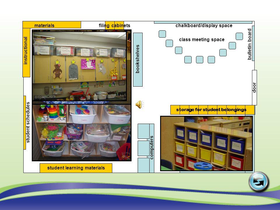storage for student belongings
