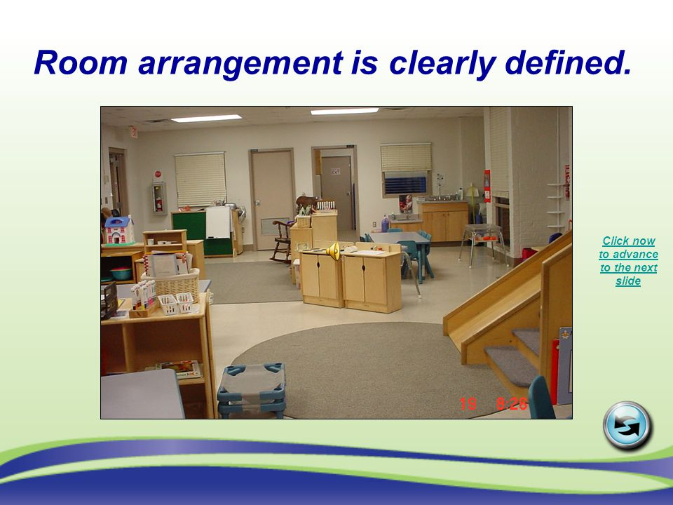 Room arrangement is clearly defined.