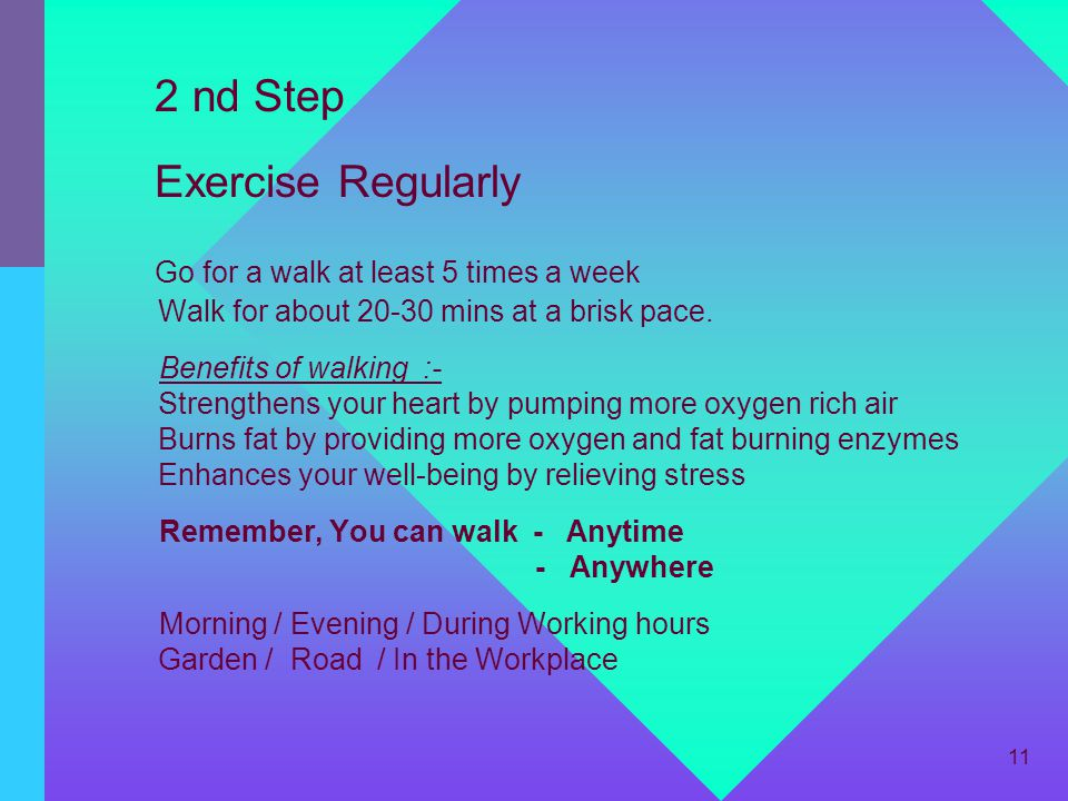 2 nd Step Exercise Regularly
