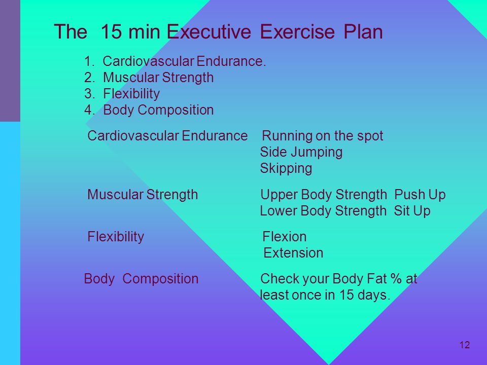The 15 min Executive Exercise Plan