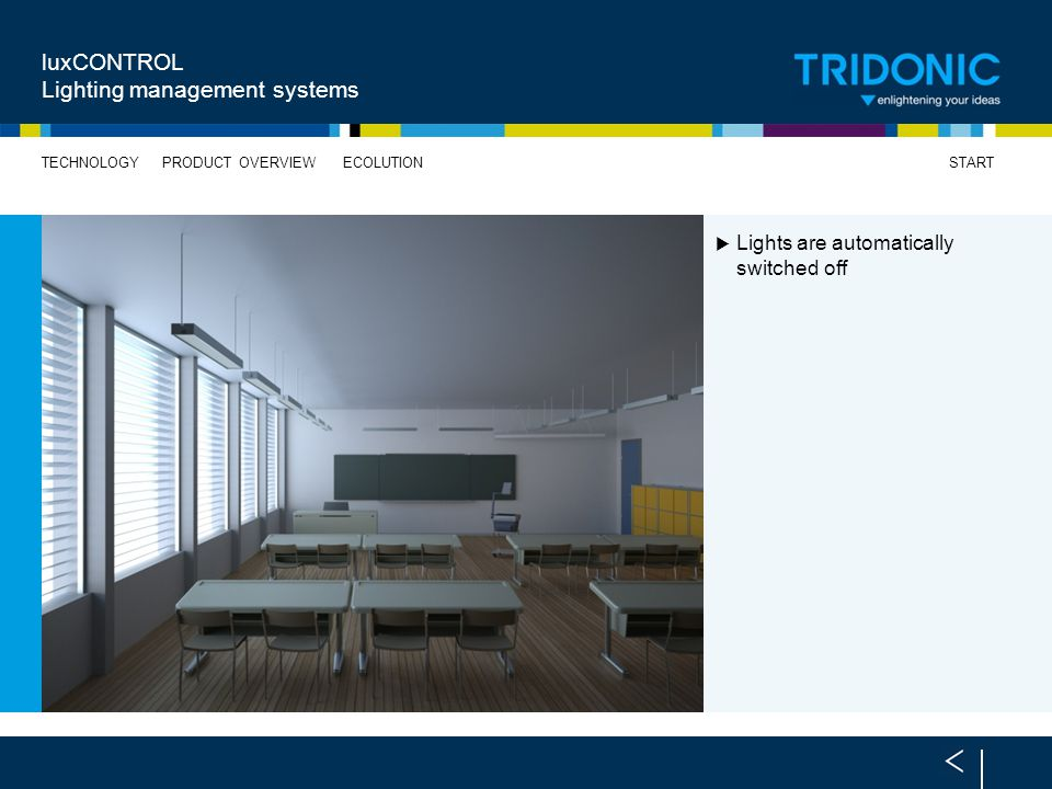 luxCONTROL Lighting management systems
