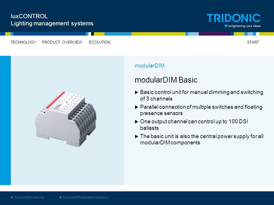 modularDIM Basic luxCONTROL Lighting management systems modularDIM