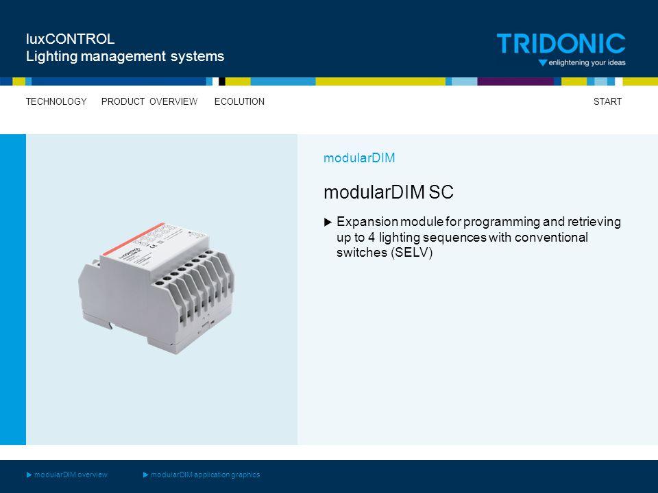 modularDIM SC luxCONTROL Lighting management systems modularDIM