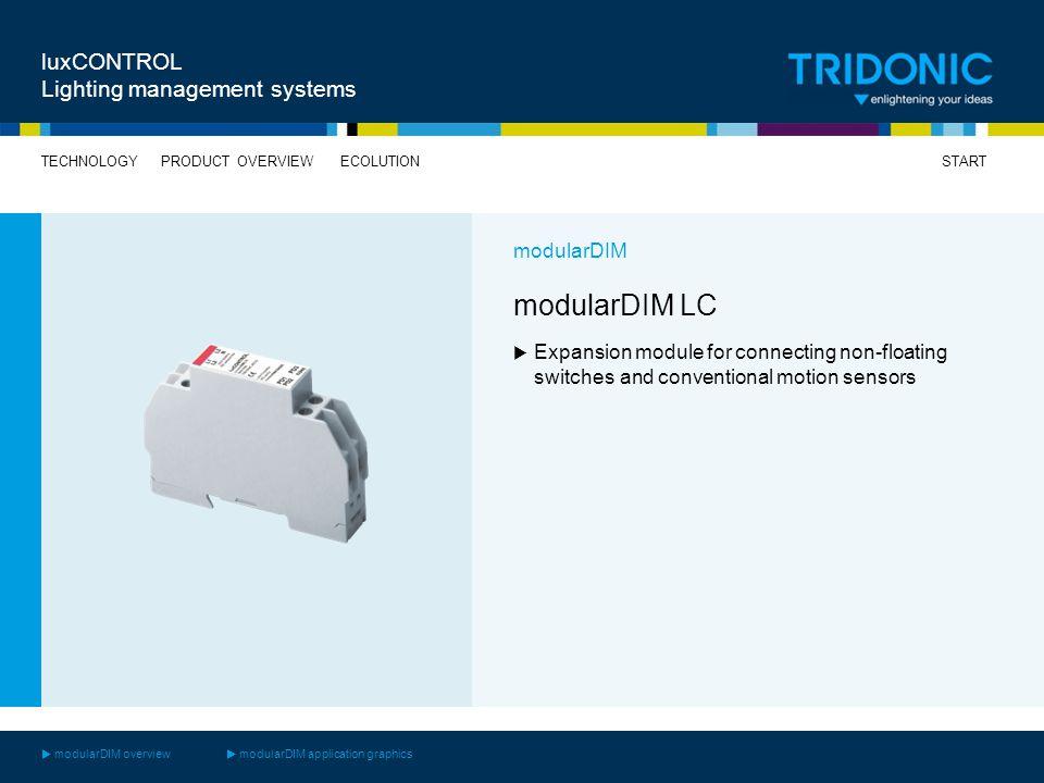 modularDIM LC luxCONTROL Lighting management systems modularDIM