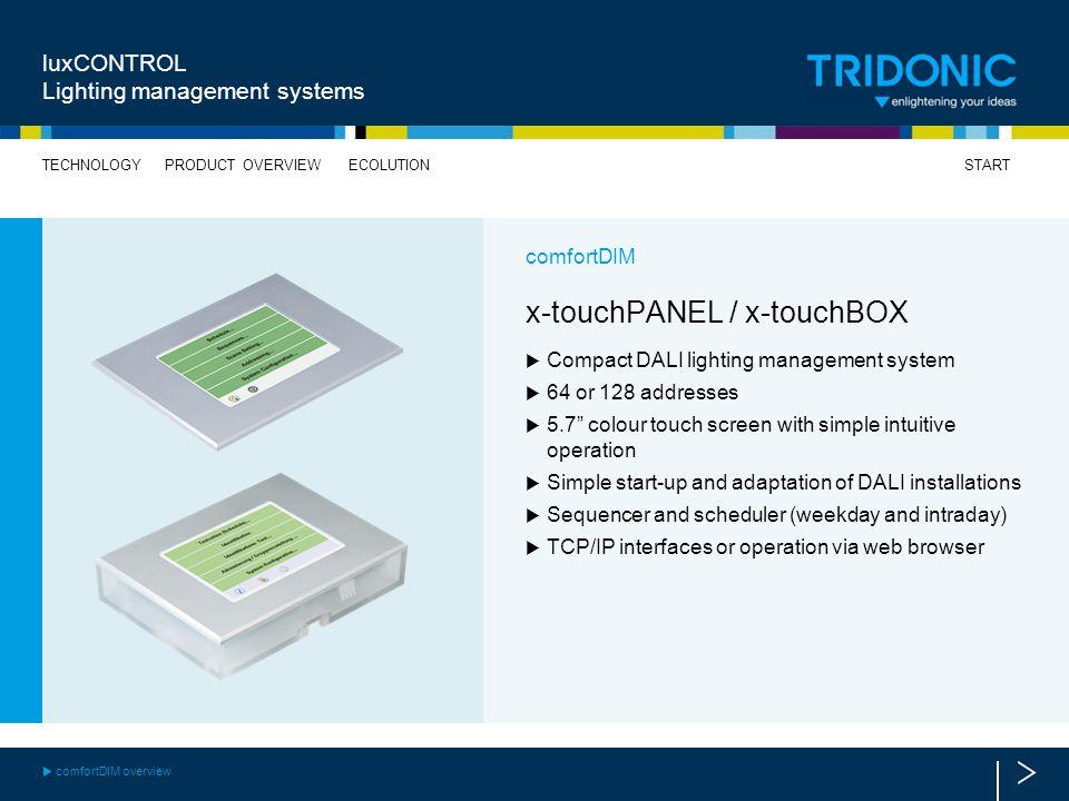 x-touchPANEL / x-touchBOX