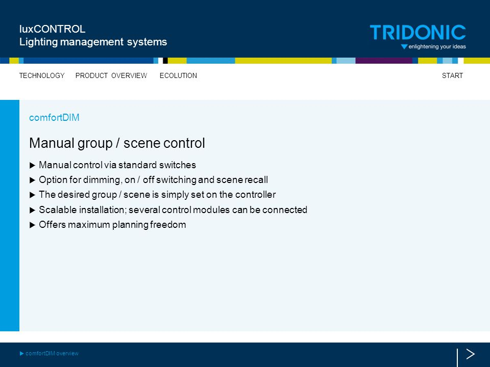 Manual group / scene control