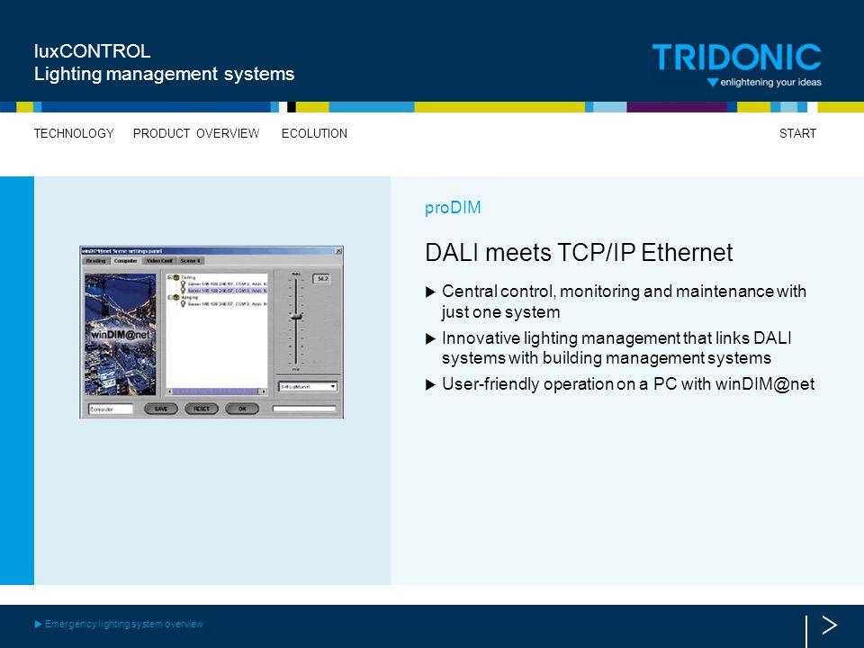 DALI meets TCP/IP Ethernet