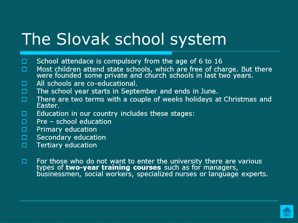 The Slovak school system