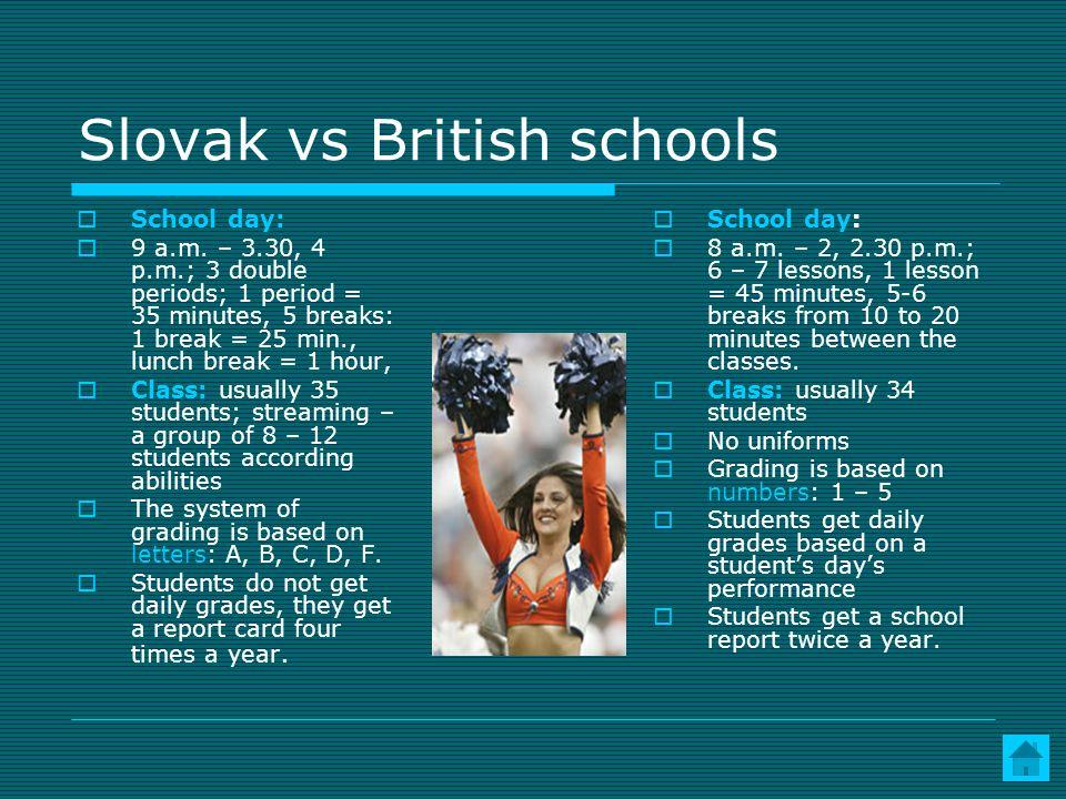 Slovak vs British schools