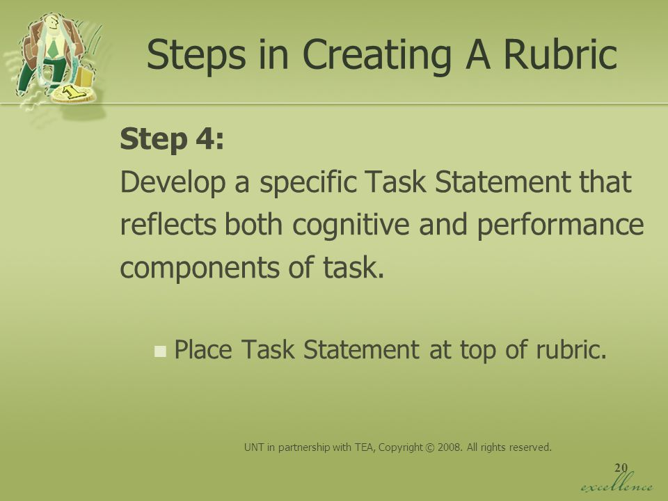Steps in Creating A Rubric