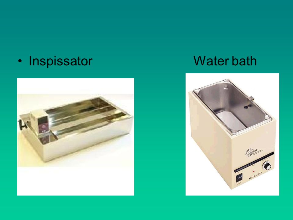 Inspissator Water bath