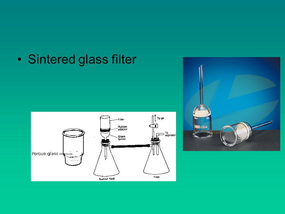Sintered glass filter