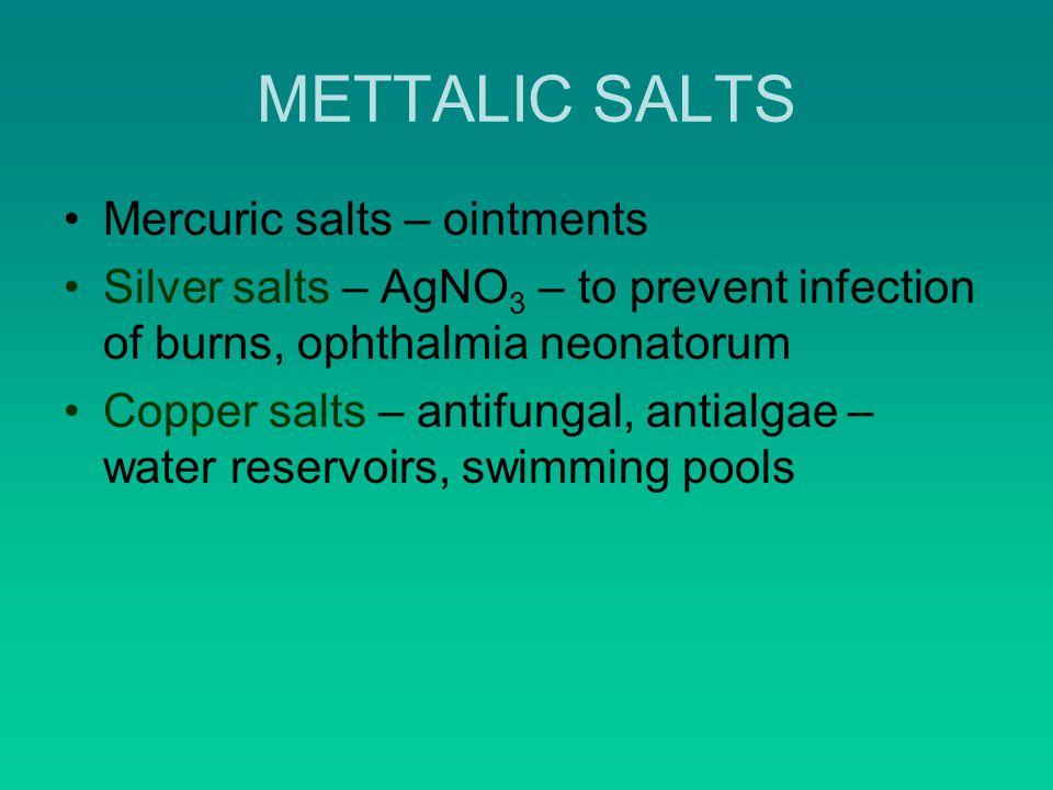METTALIC SALTS Mercuric salts – ointments