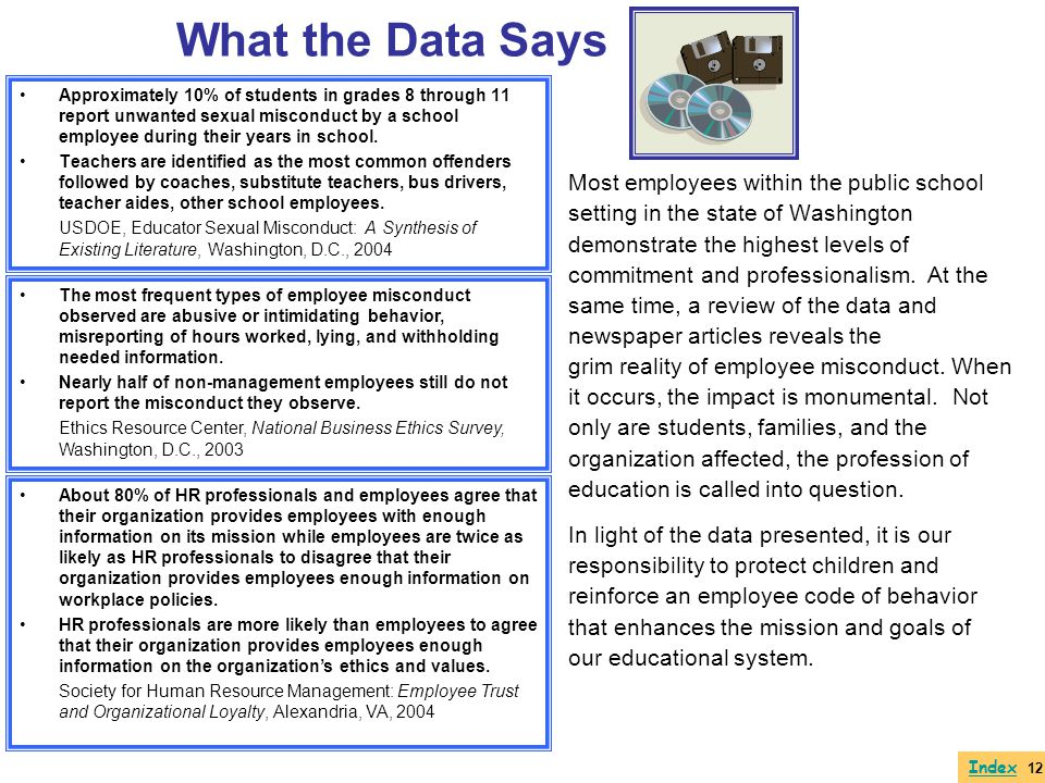 What the Data Says Most employees within the public school