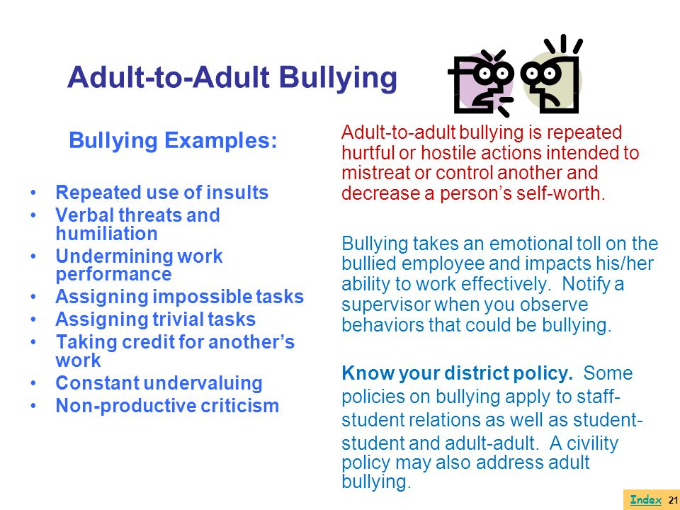Adult-to-Adult Bullying