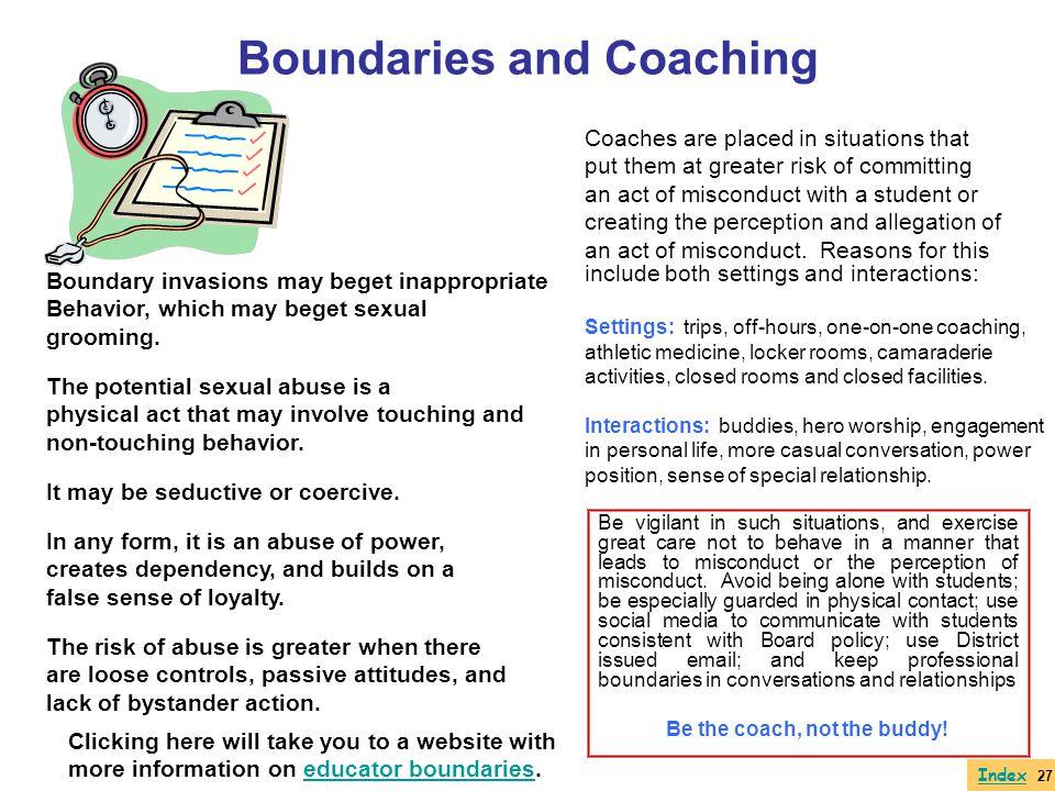 Boundaries and Coaching