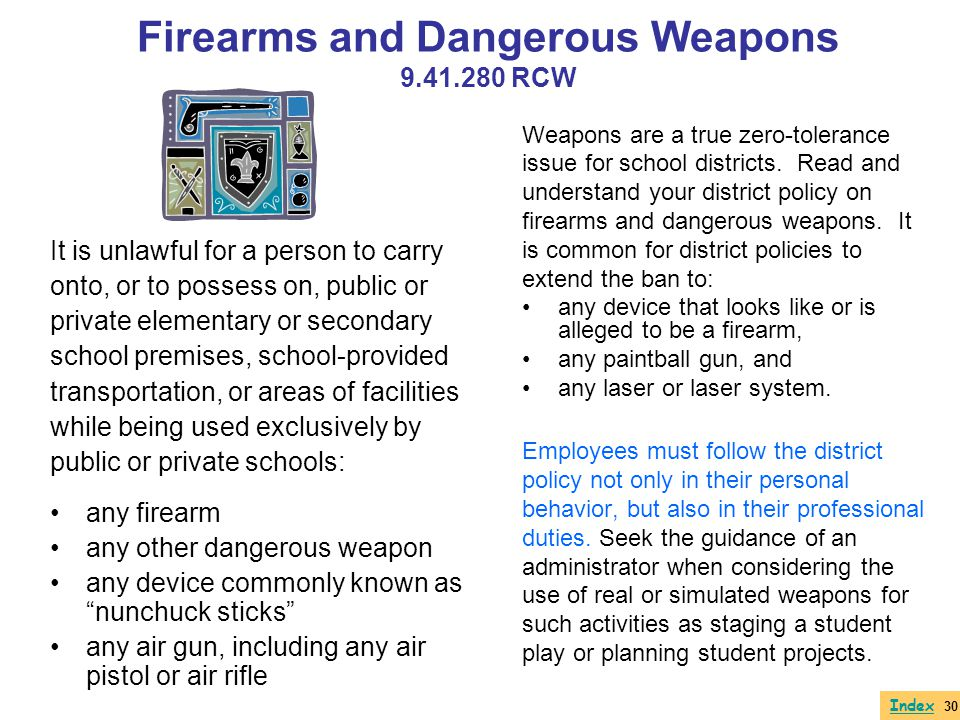 Firearms and Dangerous Weapons 9.41.280 RCW
