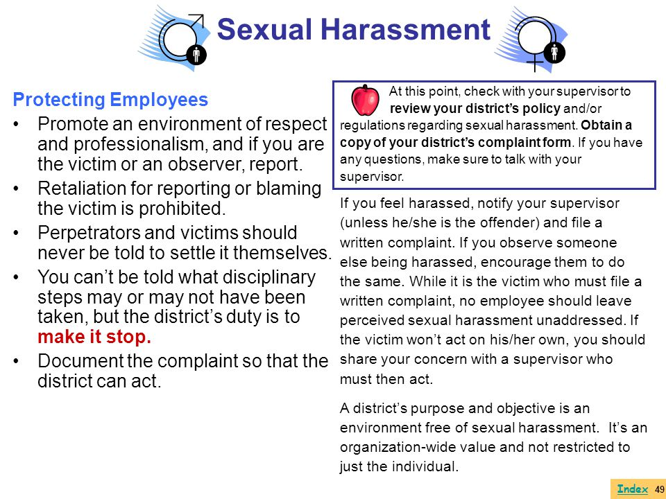 Sexual Harassment Protecting Employees
