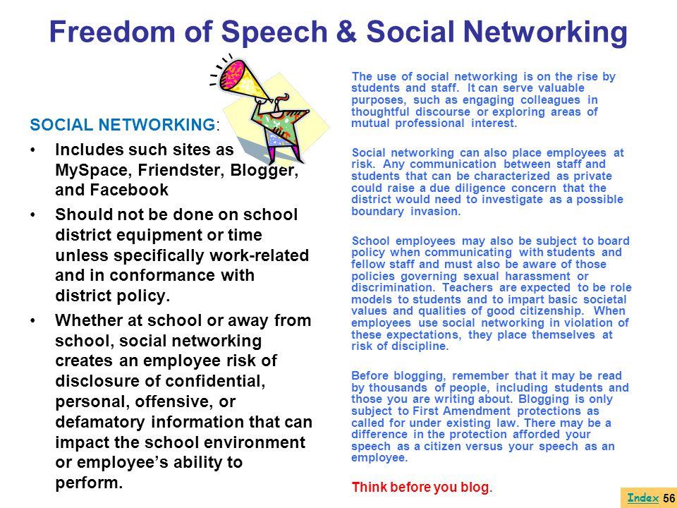 Freedom of Speech & Social Networking