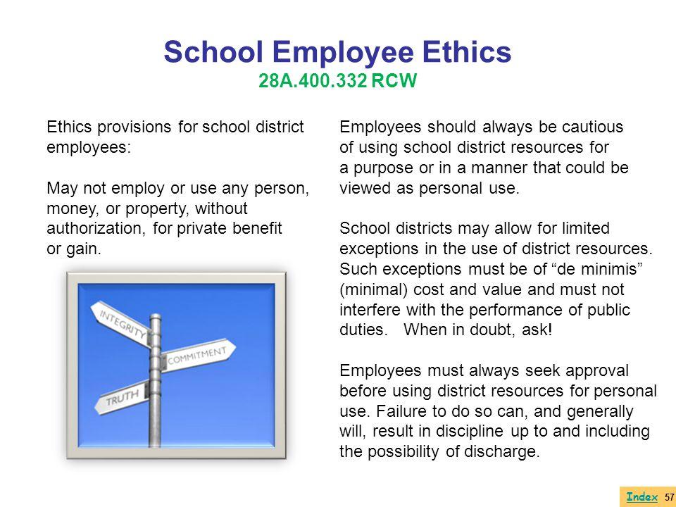 School Employee Ethics 28A.400.332 RCW