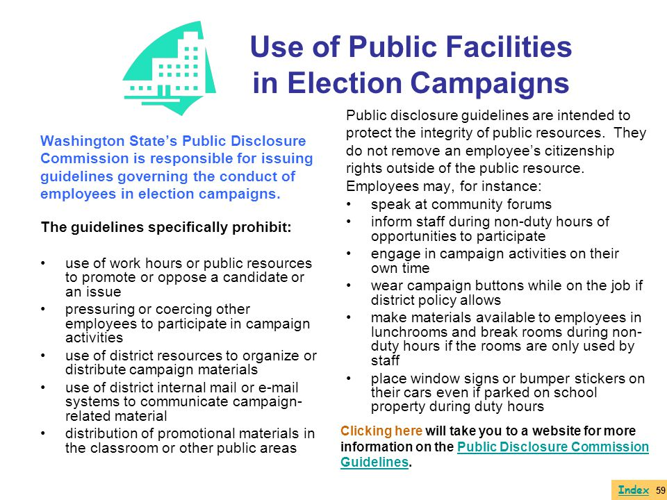 Use of Public Facilities in Election Campaigns