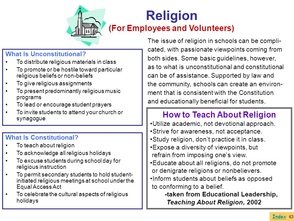 (For Employees and Volunteers) How to Teach About Religion
